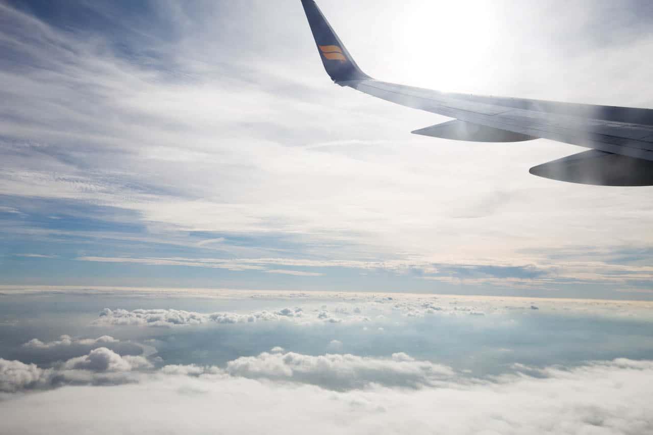 Flug nach Island