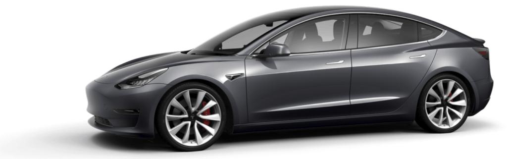 Tesla Model 3 Midnight Silver Metallic