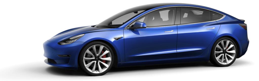 Tesla Model 3 Deep Blue Metallic